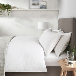 Devon Seersucker King size duvet cover, W225 x L220cm