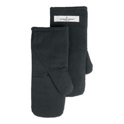 Canvas Medium oven mitts, 14 x 31cm, dark grey