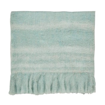 Delphiniums Blanket, L185 x W140cm, mint