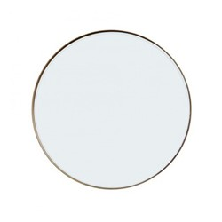 Round mirror, Dia76cm, antique brass