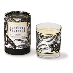 Tropical Paradise Luxury scented candle, H9.2 x Dia8.1cm