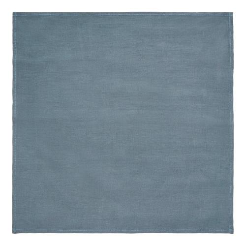 Alma Set of 4 linen napkins, 42 x 42cm, Denim Blue