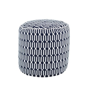 Fresh American - Links Recycled polyester P.E.T. indoor/outdoor pouf, D51 x H51cm, navy
