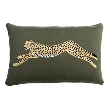 ZSL Cheetah Cushion, L57 x W38cm, multi