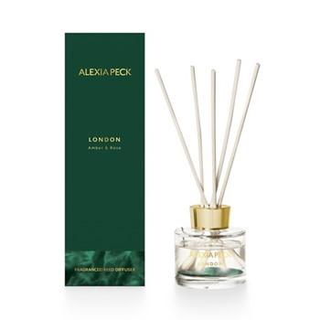 London - Amber & Rose Fragranced diffuser, L8 x W8 x H26cm, green