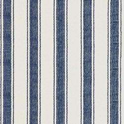 Awning Stripe Woven cotton rug, W61 x L91cm, blue