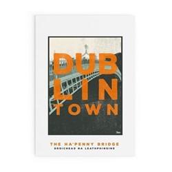 Dublin Town Collection - Ha'Penny Bridge Framed print, A3 size, multicoloured