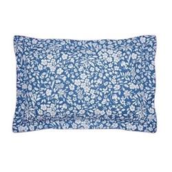 Orchard Ditsy Oxford pillowcase, L48 x W74cm, blue yonda