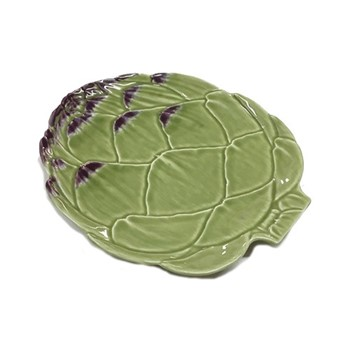 Artichoke Set of 4 fruit plates, 23.8  x 20.3cm, green