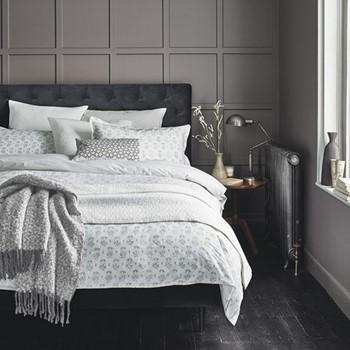 Tulip Double duvet cover set, L200 x W200cm, cloud grey