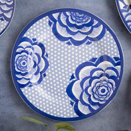 Henry Cole Side plate, H3 x W20 x L20cm, Blue