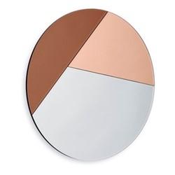 Nouveau70 Wall mirror, Dia70 x 1.2cm, rose/blush