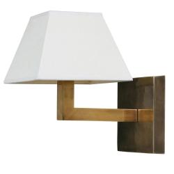 Wall lamp - base only, H20 x W16 x D16cm, Brass