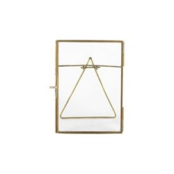 "Danta Photograph frame, 5 x 7"", antique brass"