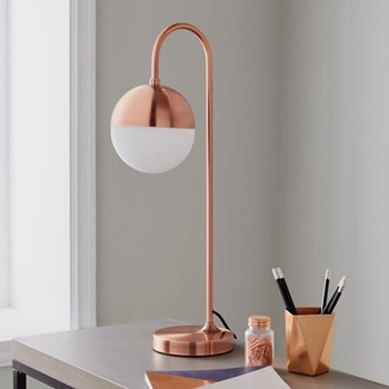 Mayfair Table lamp, L21 x W18 x D59cm, rose gold
