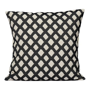 Cadogan Check Cushion, 60cm, black
