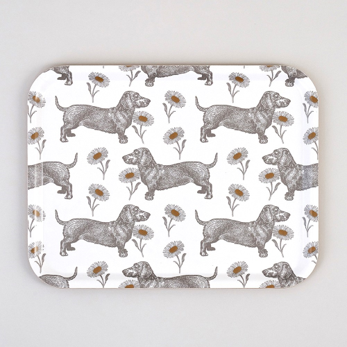 Dog & Daisy Large tray, 43 x 33cm