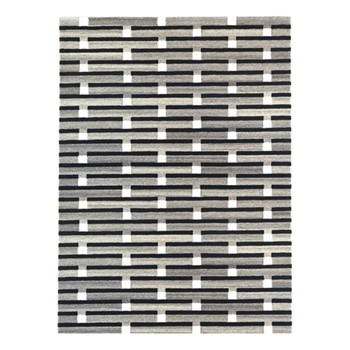 Purlin By Eleanor Pritchard Rug, W170 x L240 x D1cm, warm grey/flat weave