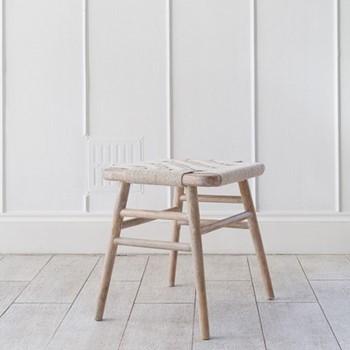 Kibo Small wooden stool, L40 x W40 x H46cm