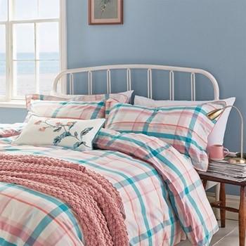 Cottage Check Super king size duvet cover, L220 x W260cm, multi