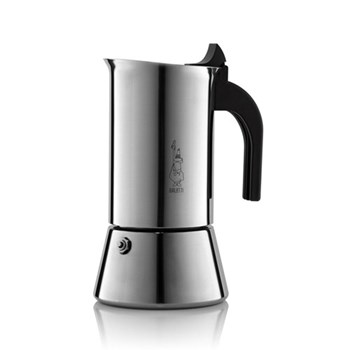 Induction stainless steel stovetop coffee maker (10 cup)