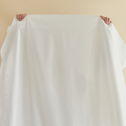 Soft & Smooth Luxury - 600 TC Double flat sheet, W230 x L275cm, White