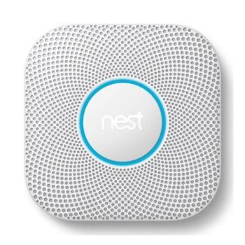 2nd Generation Smoke and carbon monoxide alarm, H15.9 x W15.8 x D7cm, white