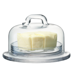 Serve Dish and cover, 11.5/10.5cm, clear