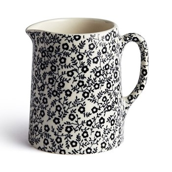 Burleigh Felicity Milk jug, black and white floral