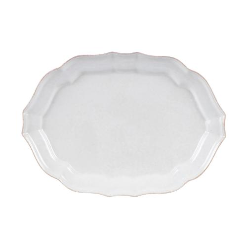 Impressions Large oval platter, L45 x W32 x H4cm, white