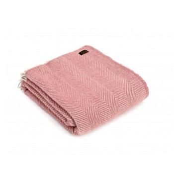 Herringbone Knee rug, 70 x 183cm, dusky pink/pearl