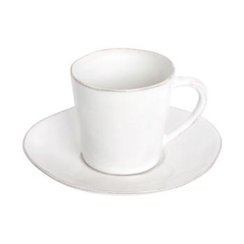 Nova Set of 6 teacups and saucers, 19cl, white