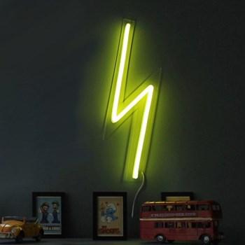 The Mini Bolt Neon light, W15 x L50cm, yellow