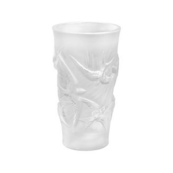 Hirondelles Vase, H15 x D8cm, grey/satin finish