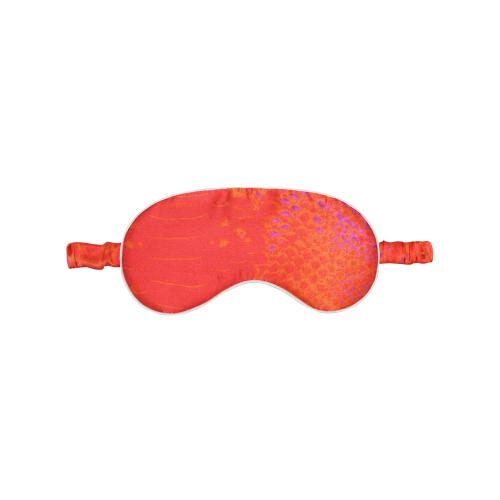 Coral Goddess Silk eye mask, L19 x W9cm, Silk With Elasticated Band