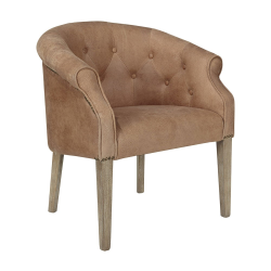 Kirkwall Club chair, L70 x W63 x H78cm, Aged Tobacco Leather