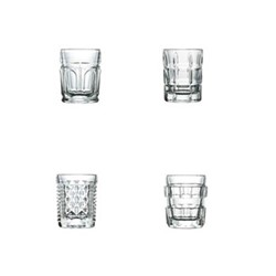 After Set of 4 shot glasses, 5cm, clear