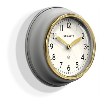 The Cookhouse II Wall clock, 35 x 10cm, grey/gold