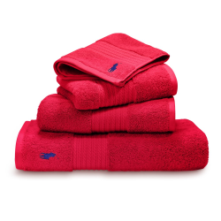 Player Bath towel, 75 x 140cm, red rose
