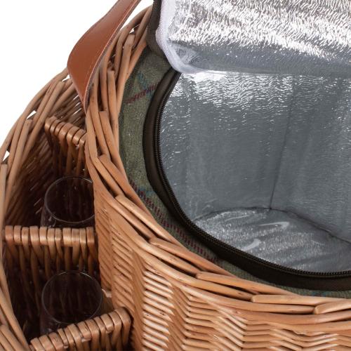 Green Tweed Champagne garden basket, H21 x W30 x L46cm, Willow
