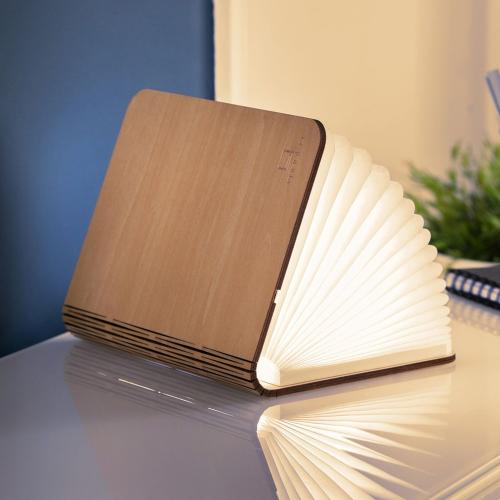 Large smart book light, L21.5 x W17 x H2.5cm, Maple
