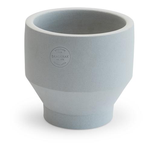 Edge Indoor pot, Dia15 x H15cm, Light Grey