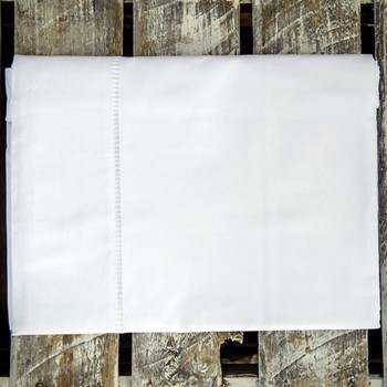 Loire Ladderstitch Super king size duvet set, 260 x 220cm, white