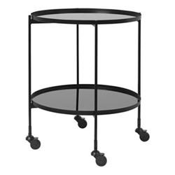 Anne Round bar cart, H64 x Dia51cm, black