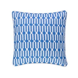 Fresh American - Links Recycled polyester P.E.T. indoor/outdoor cushion, 51 x 51cm, cobalt