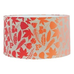 Falling Leaves Extra large lampshade, W45 x H25cm, pebble/chilli ombre