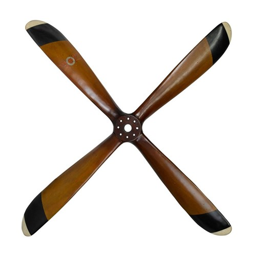 WWI - Four Blade Propeller, H5 x W120 x L120cm, Multi Finished Pine