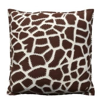 Giraffe Print Cushion, 46 x 46cm, cream
