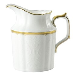 Darley Abbey Pure Gold Creamer, H11cm, white/gold