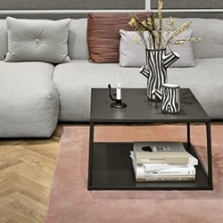 Eiffel Square coffee table, L65 x W65 x H38cm, ink black